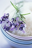Lavender flowers with sugar