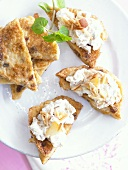 French toast with ricotta cream