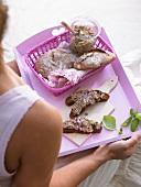 Sardine paste on coarse rye bread