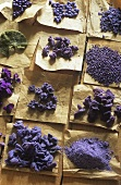 Candied violets and violet sugar