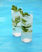 Mint Sapphire Collins (Cocktail made with Bombay Sapphire Gin)