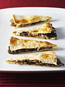 Quesadilla with mushroom and goat's cheese filling