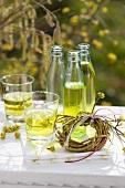 Woodruff lemonade, wreath of willow and dogwood