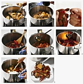 Poulet aux ecrevisses (Hähnchen mit Krebsen, Frankreich) zubereiten