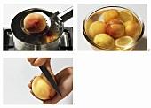 Pfirsich blanchieren und häuten