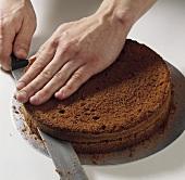 Splitting a sponge base