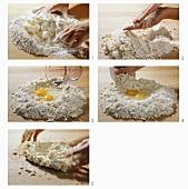 Making pastry (rubbing-in method)