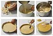 Making an orange cream tart