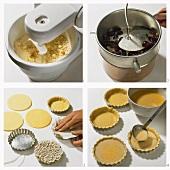 Making grape custard tarts