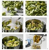 Grüne Tomatenkonfitüre zubereiten