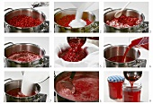 Making redcurrant jelly