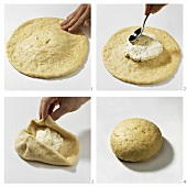 Making Russian quark bread