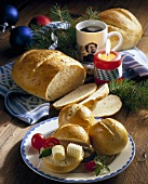Spiced bread and herb rolls, Bavarian Christmas scene