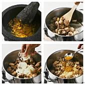 Curry vom Zicklein zubereiten