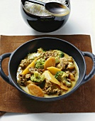 Fruity coconut curry with mince