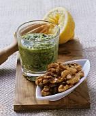 Parsley and walnut pesto