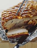 Roast belly pork with crackling