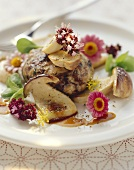 Oxtail with ceps and herb salad
