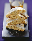 Cantucci ai pinoli (Cantucci with pine nuts & apricots, Italy)