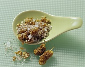 Caraway salt with mulberries and allspice