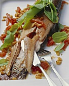 Brook charr with sorrel and pine nut butter
