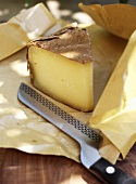 Pecorino cheese wrapped in vine leaves