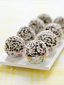Coconut-coated chocolate balls