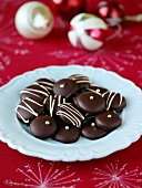 Decorated mint chocolates