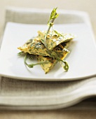 Frittata with wild asparagus and ramsons (wild garlic)
