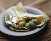 Tortilla with tomato & sheep's cheese (ricotta di pecora)