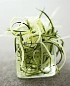 Julienne cucumber