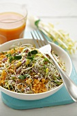 Lentil salad with sprouts