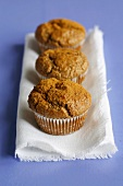Cinnamon muffins made with wholemeal flour