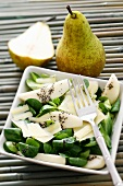 Pear & watercress salad with Parmesan & poppy seed dressing