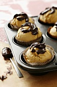 Coffee liqueur muffins with chocolate
