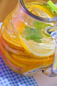 Lemonade with slices of orange and lemon
