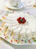 Cassata margherita (Eisdessert mit kandierten Früchten)