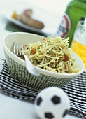 Cabbage salad with balsamic vinegar and mustard