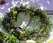 Wreath of rosemary and thyme
