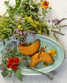 Crispy potato croquettes with herbs