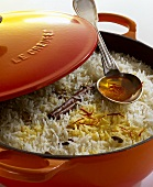 Biryani rice (Rice with Indian spices)