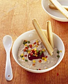 Pepper dip with grissini