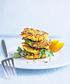Chicken and pumpkin patties with parsley