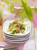 Crayfish and asparagus salad
