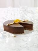 Chocolate cake with Grand Marnier for Christmas