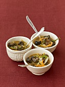 Snail ragout with vegetables