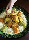 Couscous with seven types of vegetables (Morocco)