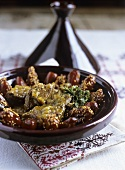Veal tajine with dates and sesame seeds (Morocco)