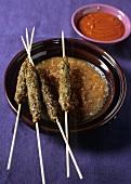 Brochettes de kefta (Mince kebabs, Morocco)