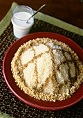 Seffa (Couscous with almond and cinnamon, Morocco)